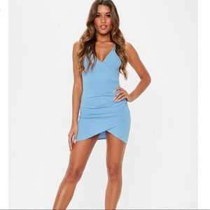 Missguided double strap wrap NEW bodycon dress 6